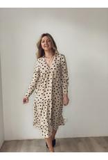 Dotty Day Dress Beige Polka Dot