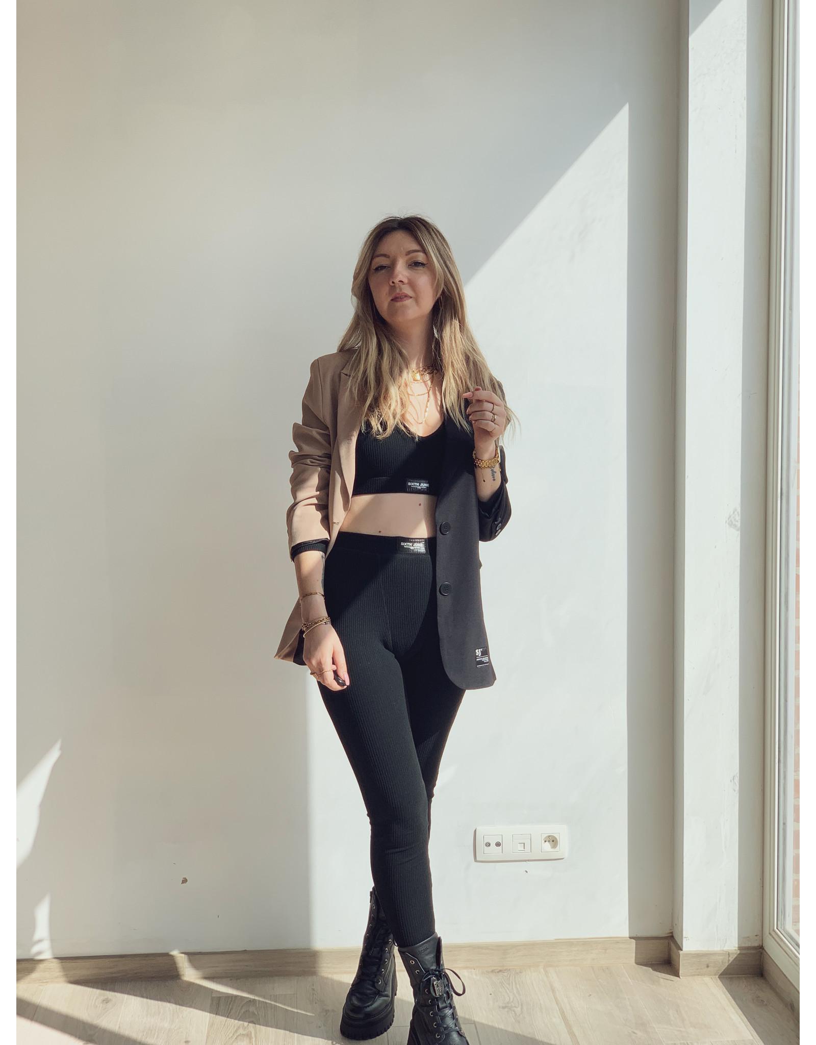 SJ Ribbed leggings Black