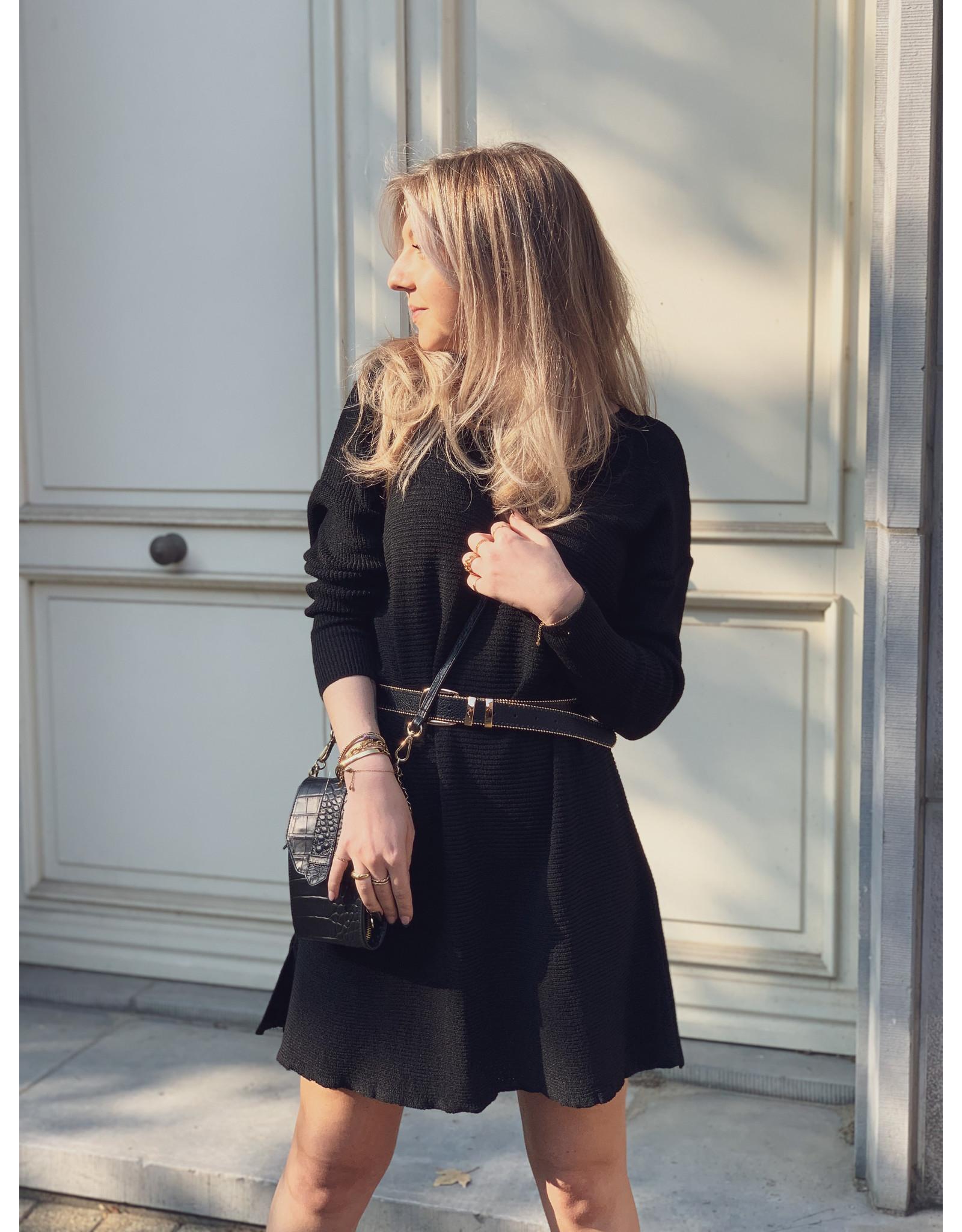 MW Nola Knitted Dress - Black