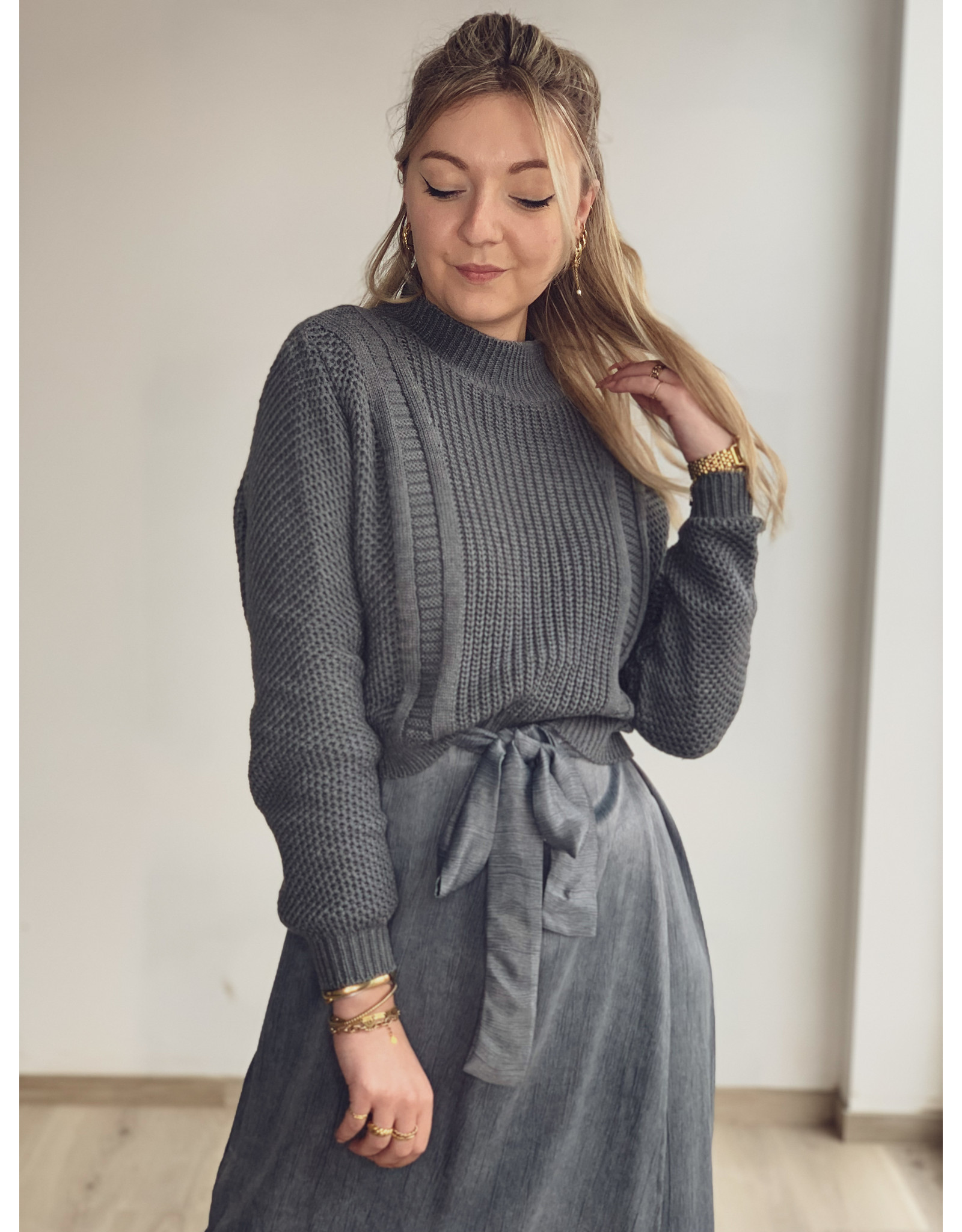 MW Aster Knitted Sweater Stone Grey
