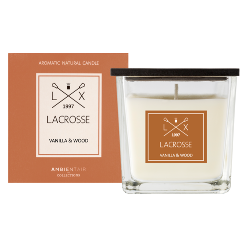 Lacrosse scented candle VANILLA & WOOD 8x8