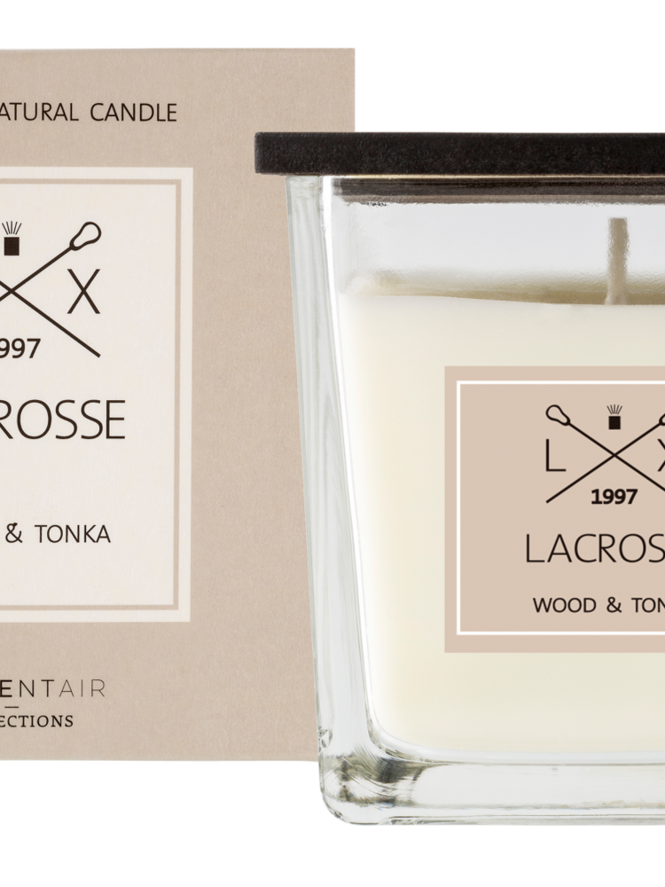 Lacrosse scented candle WOOD&TONKA 8X8