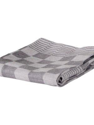 Koksdoek grijs - grote ruit 70/70 cm