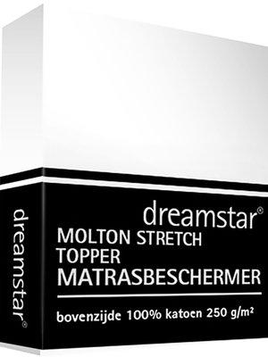 Dreamstar Dreamstar Hoeslaken Molton stretch topper 12cm