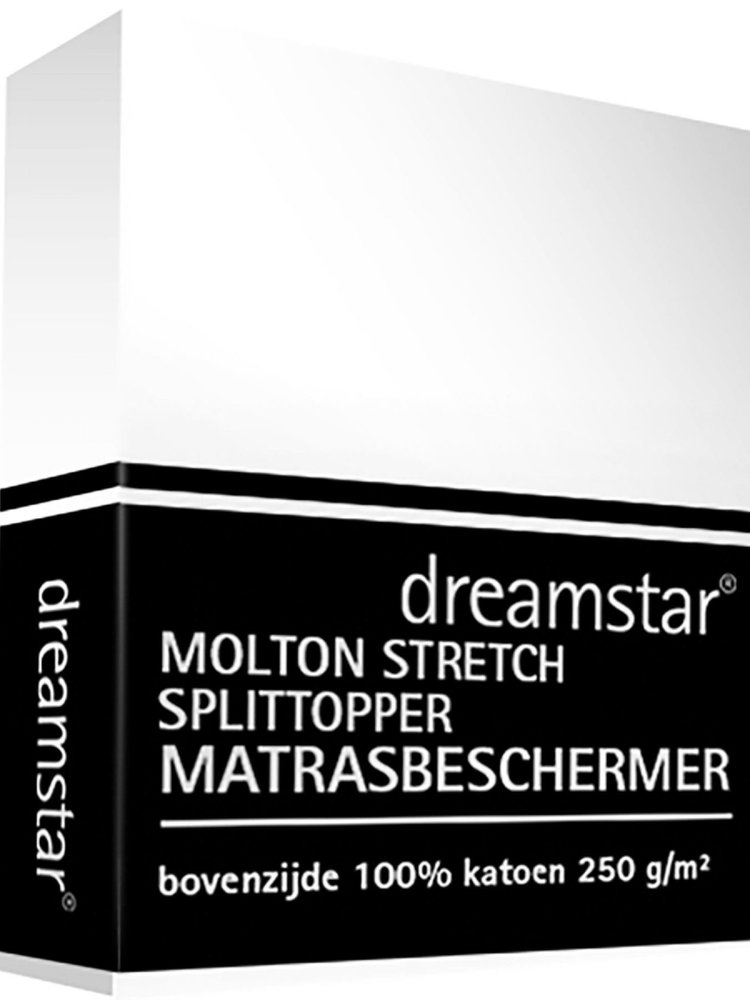 Dreamstar Dreamstar Hoeslaken Molton stretch splittopper 12cm
