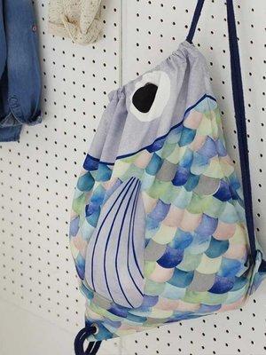 COVERS & CO Fishy Gym Bag blue