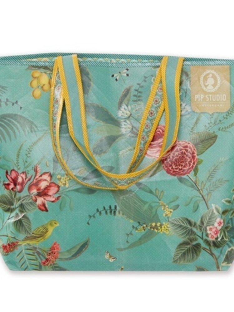 PiP Studio PIP Floris beach bag Green One size