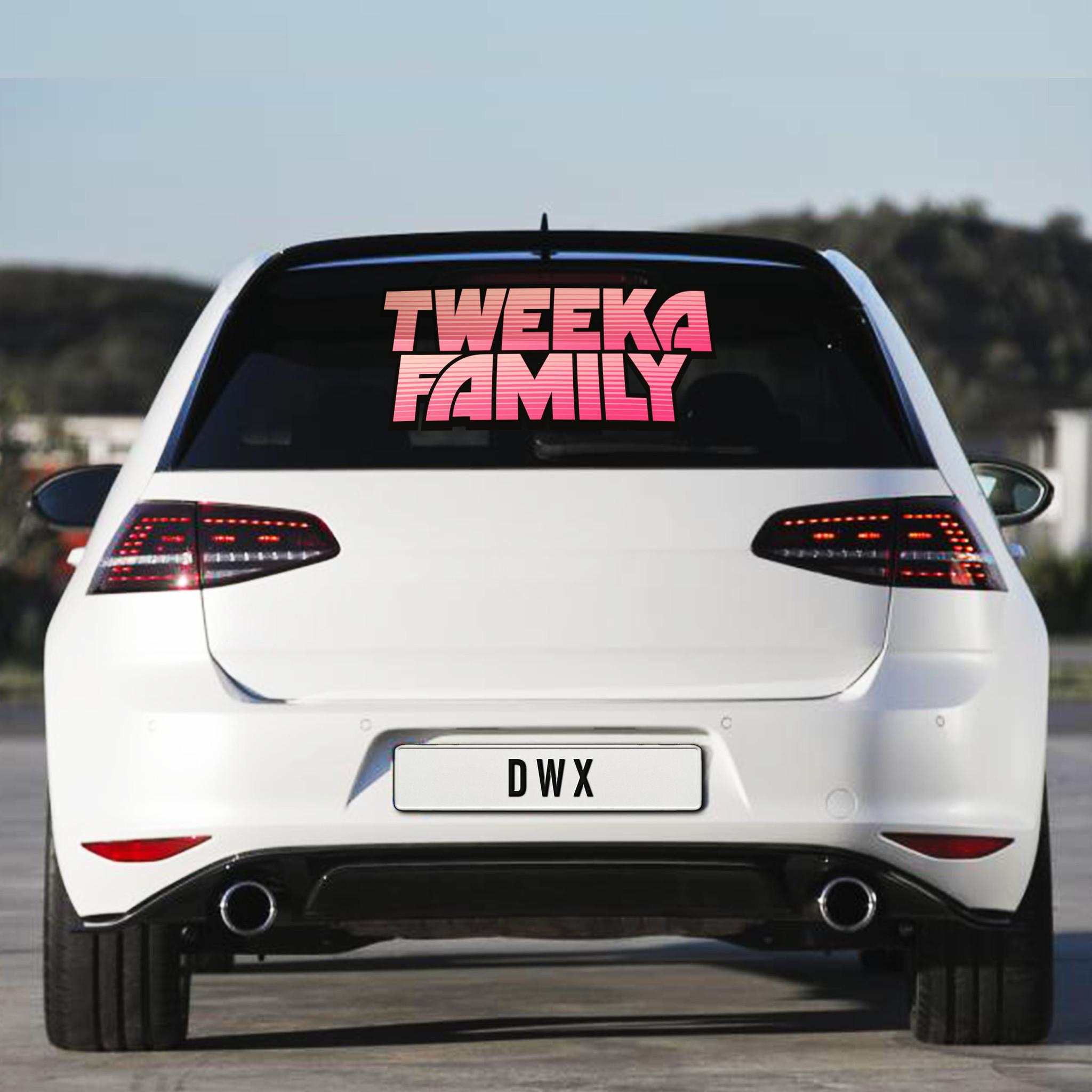 Tweeka Family Carsticker
