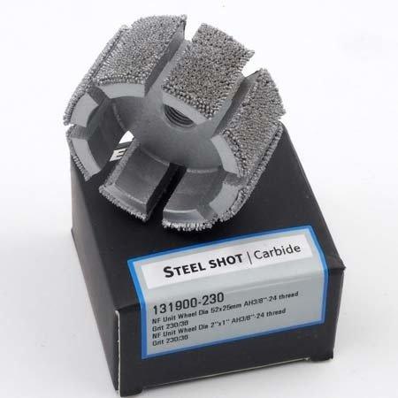 "NeroForce Steel Shot Grit Unit Wheel Ø 52x25mm, AH 3/8""x24 thread"