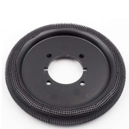 """Rubberhog 8"""" DONUT WHEEL, 60MM BORE with 4 Drive Holes MCM 120 (VERY COARSE)"""