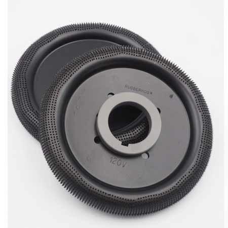Rubberhog 200mm DONUT WHEEL, 60mm Bohrung mit 4 Mitnahmebohrungen, MCM 120 (SEHR GROB)