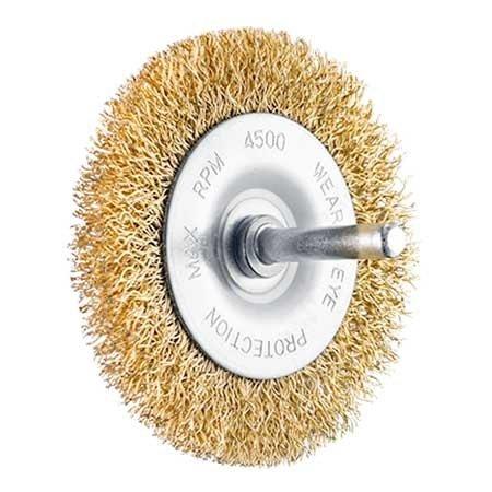 SIT Bürste (Messing überzogen) 60x9mm, Schaft 6 mm