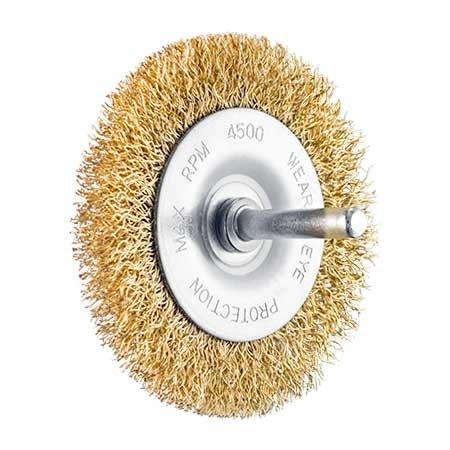 SIT Bürste (Messing überzogen) 100x9mm, Schaft 6 mm