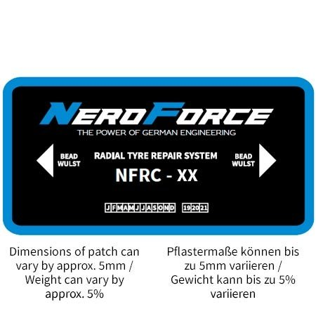 NeroForce Radial Patches - OTR - Chemical Cure Type - 4 Plies