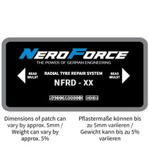 Radialpflaster - OTR - Dual Cure Type