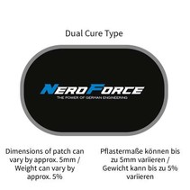 Schlauchreparatur-Pflaster, oval, Dual Cure Type