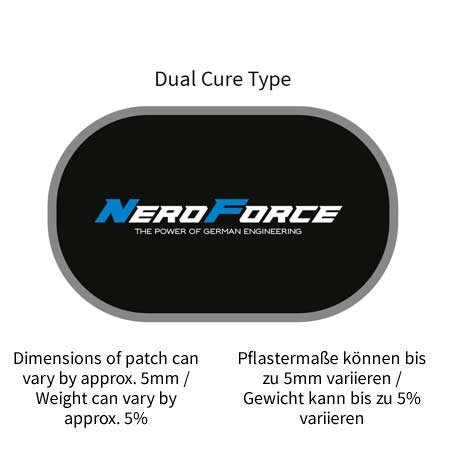 NeroForce Schlauchreparatur-Pflaster, oval, Dual Cure Type