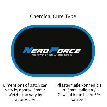 NeroForce Tube Repair Patches, oval, Chemical Cure Type