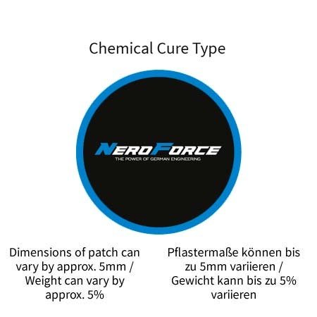 NeroForce Tube Repair Patches, round, Chemical Cure Type