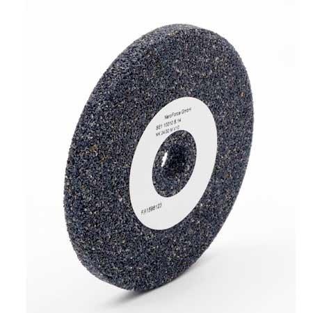 NeroForce Schwarze Keramik Schleifscheibe 100x10mm, Bohrung 14mm, Mischkörnung 24/30