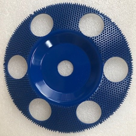 "Saburrtooth 178mm Flat Disc, 3/8"" - 24tread with holes, 3/8"" - 24tread"