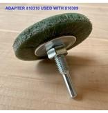 SIT Plastik gebundene Bürste, grün 50 x 8 mm, AH 10 mm (Std.0,50mm)