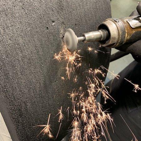 NeroForce Keramik Schleifkegel A34, 55x10mm, Shaft 6mm