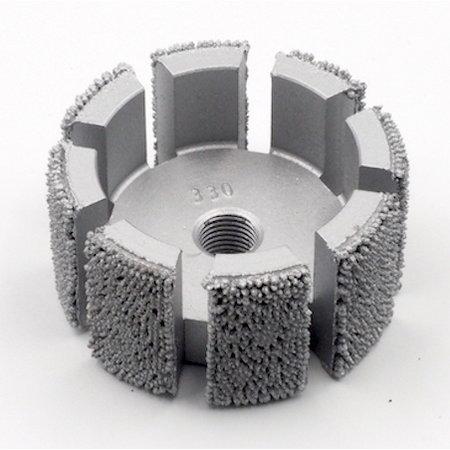"""NeroForce Steel Shot Schleifzylinder  Ø52x25mm, AH 3/8""""x24 thread"""