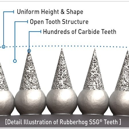 Rubberhog 30mm SPHERE, 6.3mm SHAFT, SSG 330 (COARSE)