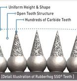 Rubberhog 50 x 9,5mm Schleifring, AH 3/8x24thread