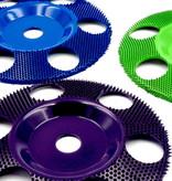 "Saburrtooth 127mm Flat Disc, 3/8"" - 24tread with holes, 3/8"" - 24tread"