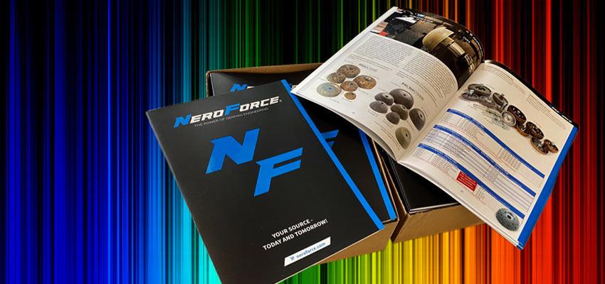 NeroForce unterstützt eigenen Online-Shop mit gedrucktem Gesamtkatalog