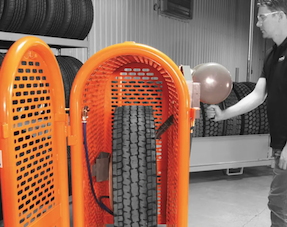 Tyre Inflation Safety Cages