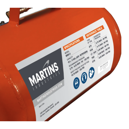 Martins Industries Reifenfüllkanone 19l Stahl Ausführung