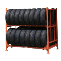 Foldable & Stackable Tyre rack, tread or Laced