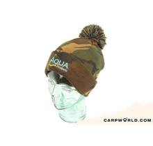Aqua Camo Bobble Hat