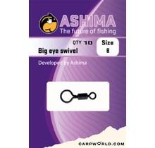 Ashima Big eye swivel size 8 10 pcs