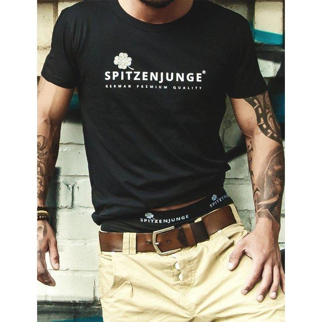 Spitzenjunge Tank black t-shirt