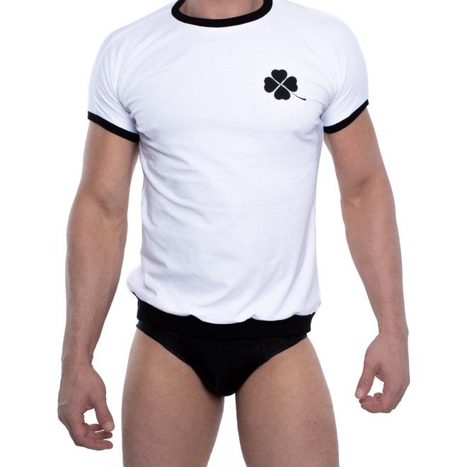 Spitzenjunge Kleeblatt t-shirt white