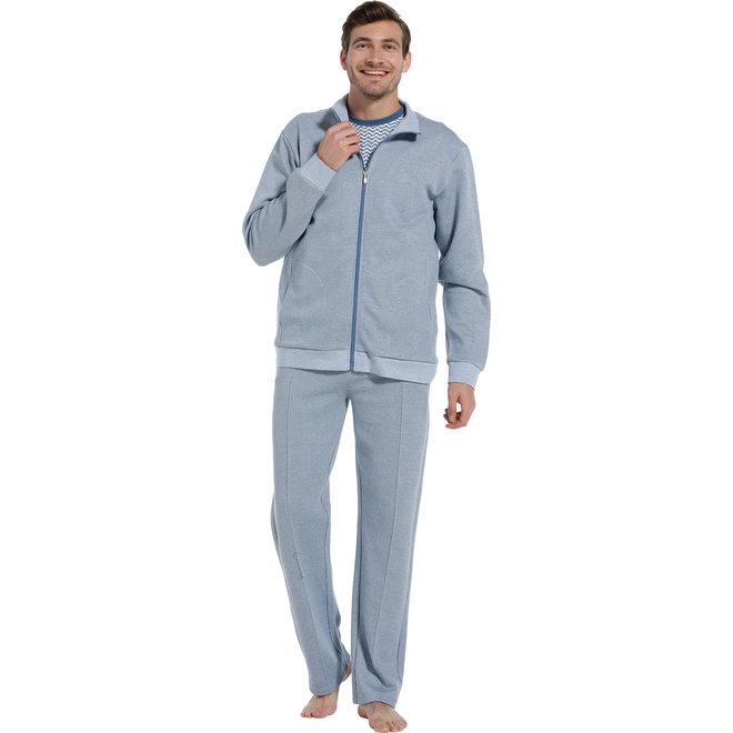 Pastunette zip crew blue