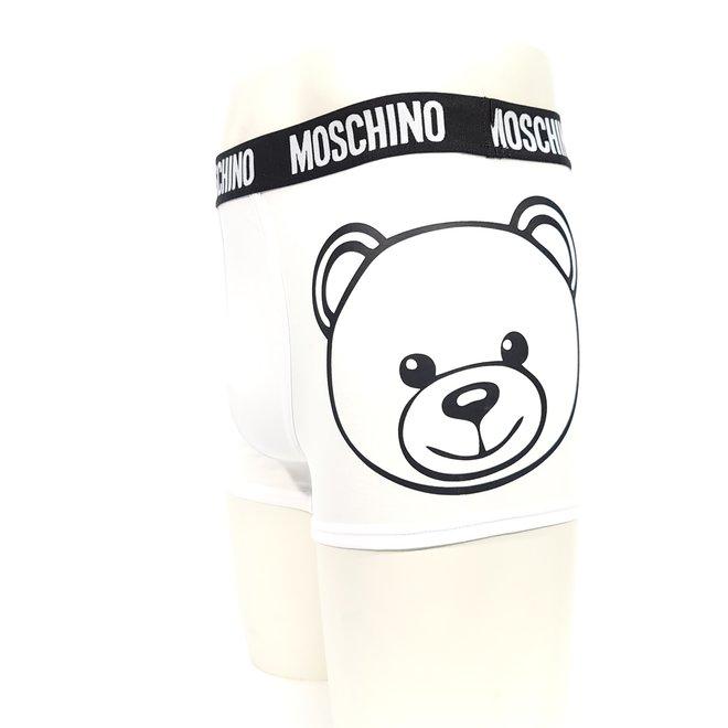 Moschino bear logo white boxer