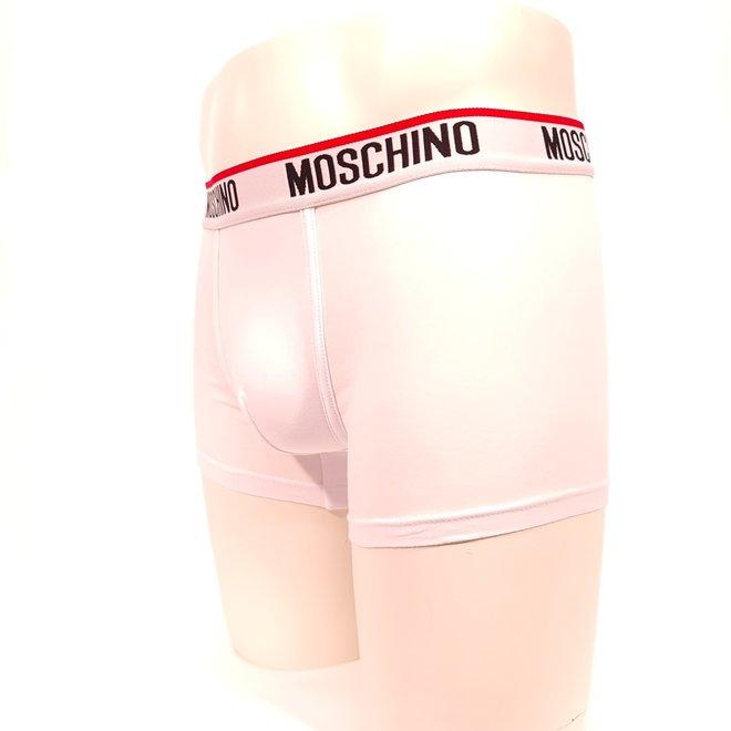 Moschino logo boxer white