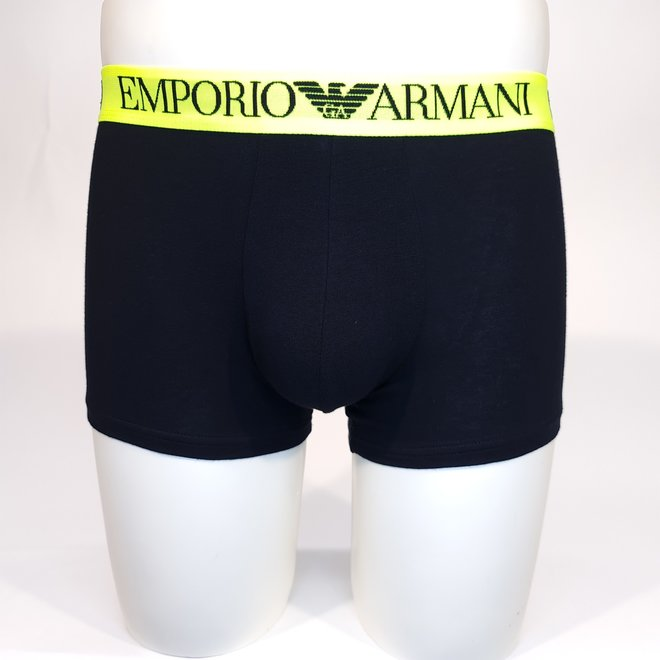 Emporio Armani fluorescent yellow XL band boxer