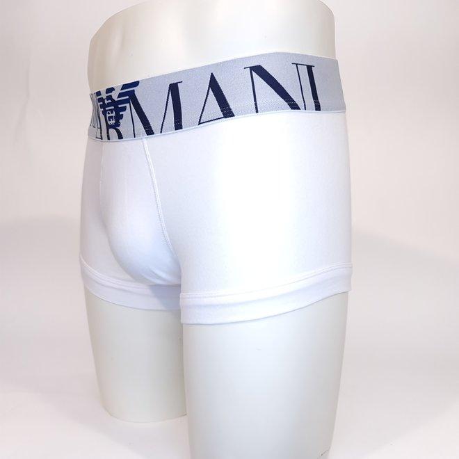 Emporio Armani XL logo trunk white