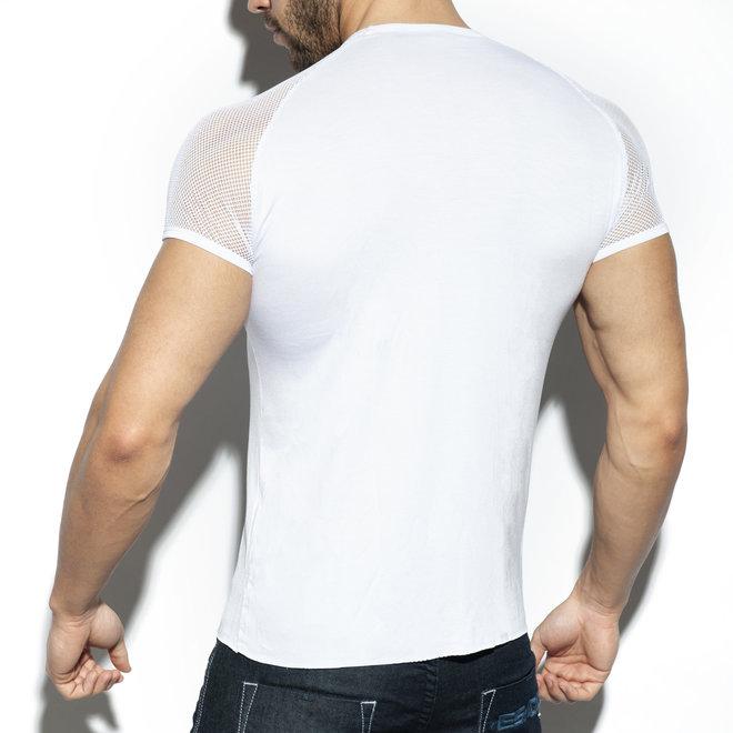 ES ranglan mesh t-shirt white