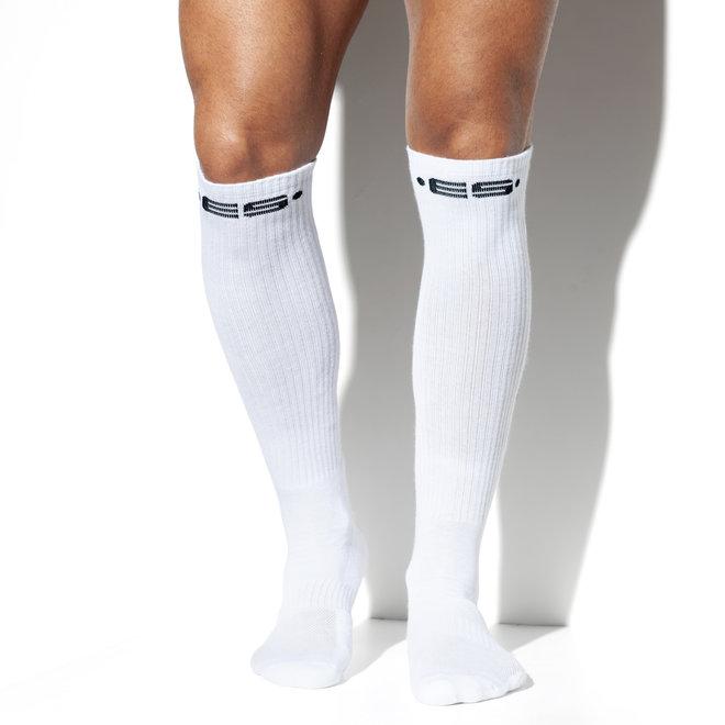 ES never back down socks white