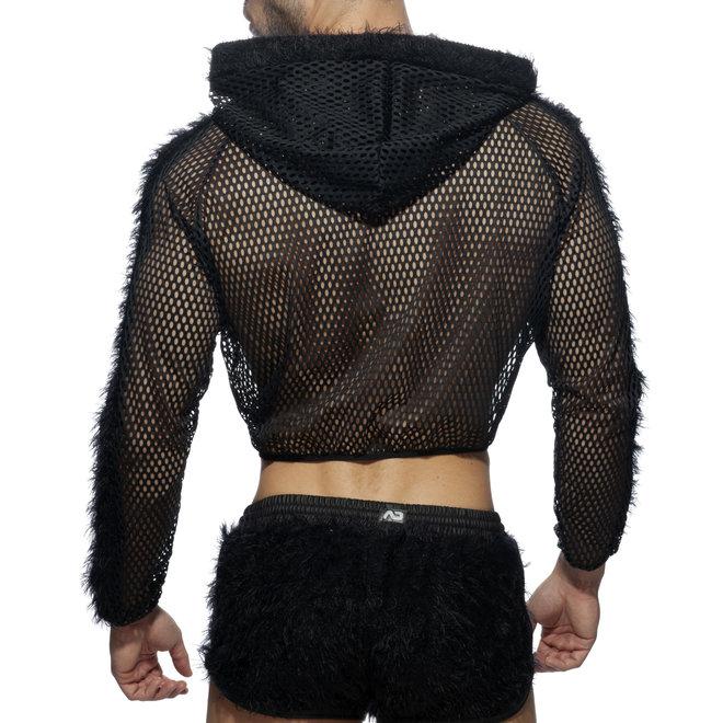 AD crop jacket black