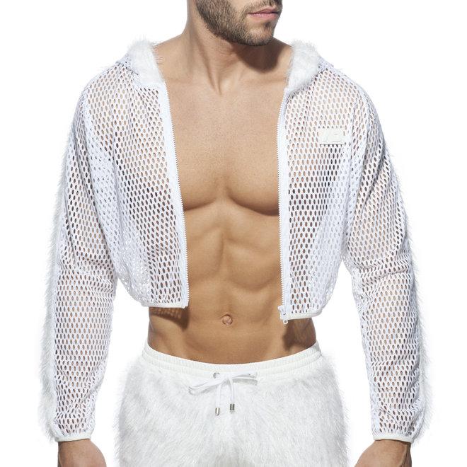 AD crop jacket white