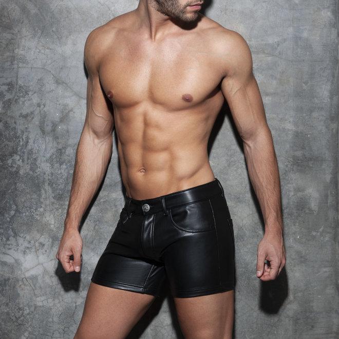 AD fetish short leatherlook