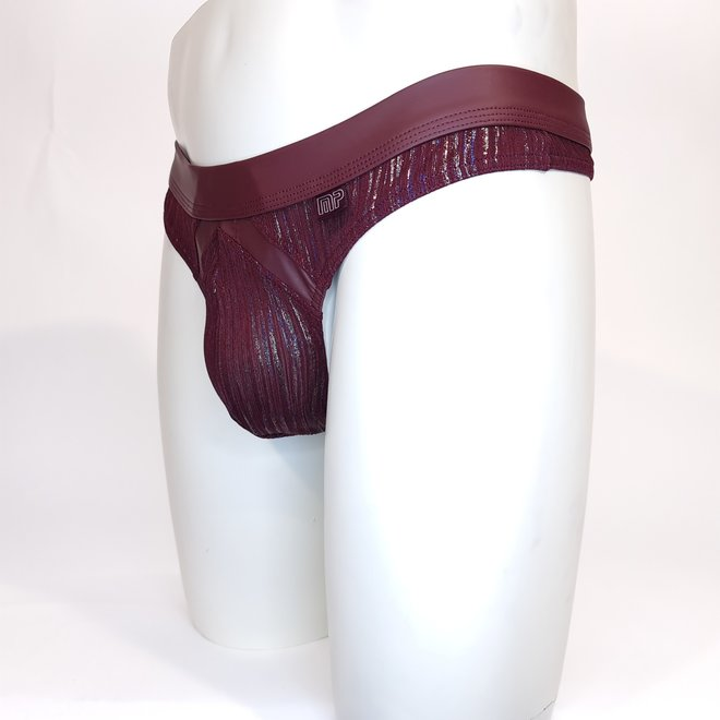 Male power Dazzle thong burgundy